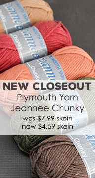 Plymouth Yarn Jeannee Chunky Closeout