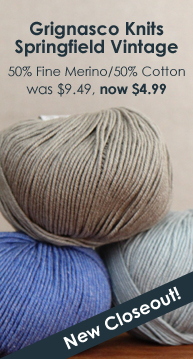 Grignasco Knits Springfield Vintage Closeout Yarn