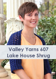 Valley Yarns 607 Lake House Shrug knit in Valley Yarns Goshen