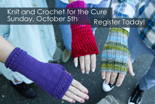 Knit and Crochet for the Cure Event at WEBS
