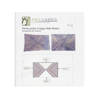 P94 Reversible Triangles Baby Blanket