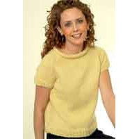 IN80 Ladies Cabled Edge Sweater