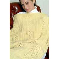 IN81 Lace And Rib Afghan