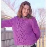 Reynolds 82332 Pullover With Lace Panel