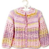 Knit One Crochet Too 1520 Petal Baby Cardie