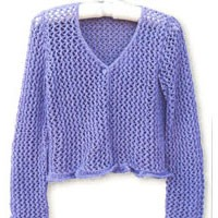 1526 Purple Lace Cardigan