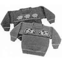 13 Child's Cow & Pig Sweaters
