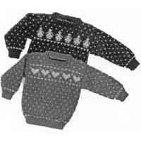 2 Child's Heart & Doll Sweaters