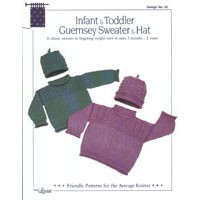 22 Infant & Toddler Guernsey Sweater & Hat