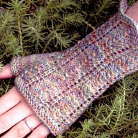 345 Heather Razor Shell Fingerless Mitts