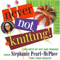 Never Not Knitting!: 2009 Page-A-Day Calendar