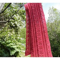 Pink Coral and Lace Scarf