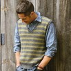 Blue Sky Alpacas Men's Striped Vest - Msv