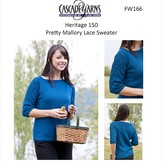 Cascade Yarns FW166 Pretty Mallory Lace Sweater (Free)