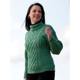 Cascade Yarns W210 220 Superwash Lattice Knit Sweater and Hat (Free)