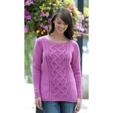 Cascade Yarns W405 Winter Rose Sweater (Free)
