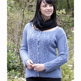 Cascade Yarns W435 Cloud Everyday Cardigan (free)