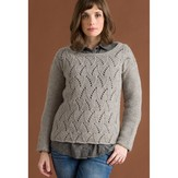 Classic Elite Yarns Flame Chevron Pullover (Free)