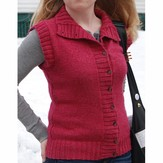 Classic Elite Yarns Magnolia Sweater Vest (Free)
