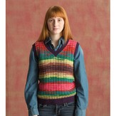 Classic Elite Yarns 1417 Seeded Rib Vest PDF