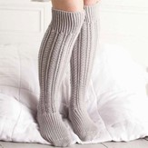 Debbie Bliss Over-Knee Cabled Socks PDF
