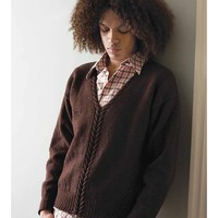 Man's Cabled Neck Sweater PDF