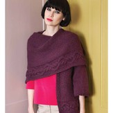 Debbie Bliss One-Sleeved Wrap PDF - Debbie Bliss Magazine #7