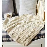Debbie Bliss Cabled Throw PDF