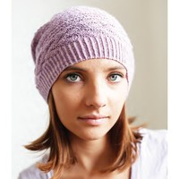 Lace Merino Ribbed Beanie Set PDF
