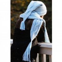 H-25 Winter Cables Hat & Scarf PDF