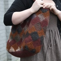 Felted Entrelac Bag