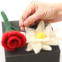 Needle Felting Flowers and Fruits