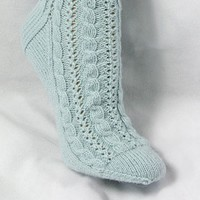 Cabled Lace Socks PDF