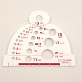 Clover Hat Shaped Needle Gauge