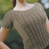 Knit One Crochet Too 1764 Sabrina Tee