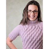 Knit One Crochet Too 2160CN X-Cable Turtleneck