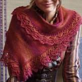 Regia Asymmetrical Shawl with Lace Band