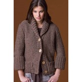 Tahki Yarns Sandalwood Cardigan Kit