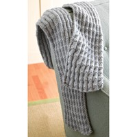 286 Shale Pleated Scarf (Free Pattern)