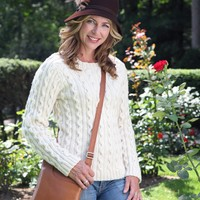 421 Pearl Street Cabled Pullover Kit