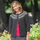 Valley Yarns 422 Rose Tweed Cardigan Kit