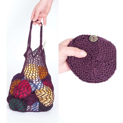 Yarn Bag Pattern : Louet Knitted and Crocheted Pouch Bag PDF at WEBS Yarn.com