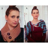 5085 Scarf, Scarf-Necklace, Muffler, Stole