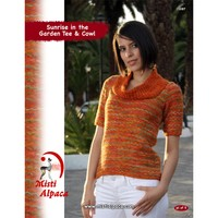1087 Sunrise in the Garden Tee & Cowl PDF
