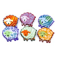 Glass Sheep Jewelry Pins