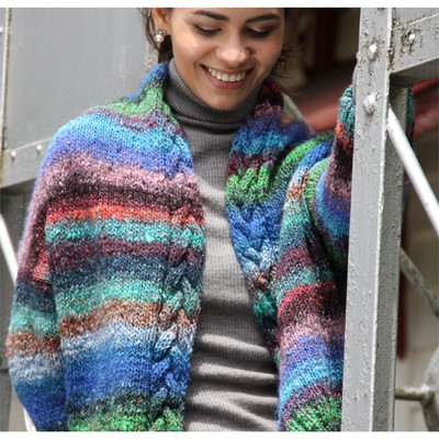 Noro Yarn Free Crochet Patterns : Noro Obi Cabled Jacket (Free) at WEBS Yarn.com