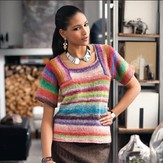 Noro Saddle Shoulder Colorblock Top PDF