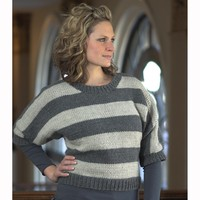 2126 Women's Striped Pullover