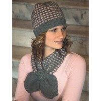 2135 Encore Worsted Mosaic Scarf & Hat