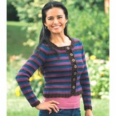 Plymouth Yarn 2279 Woman's Double Striped Cardigan